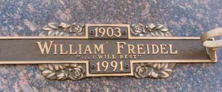 FREIDEL, WILLIAM - Yankton County, South Dakota | WILLIAM FREIDEL - South Dakota Gravestone Photos