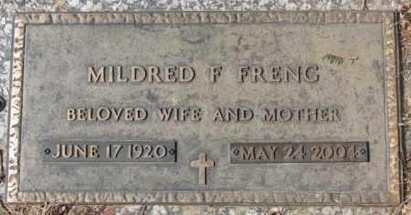 FRENG, MILDRED F. - Yankton County, South Dakota | MILDRED F. FRENG - South Dakota Gravestone Photos