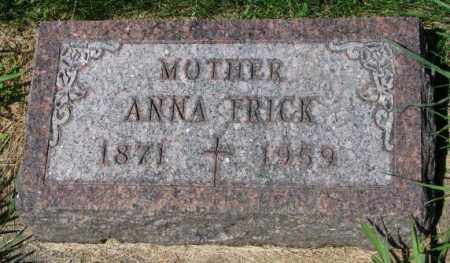 FRICK, ANNA - Yankton County, South Dakota | ANNA FRICK - South Dakota Gravestone Photos
