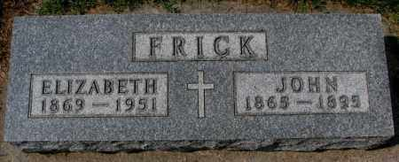 FRICK, JOHN - Yankton County, South Dakota | JOHN FRICK - South Dakota Gravestone Photos