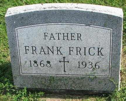 FRICK, FRANK - Yankton County, South Dakota | FRANK FRICK - South Dakota Gravestone Photos