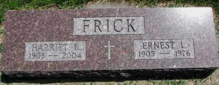 FRICK, ERNEST L. - Yankton County, South Dakota | ERNEST L. FRICK - South Dakota Gravestone Photos
