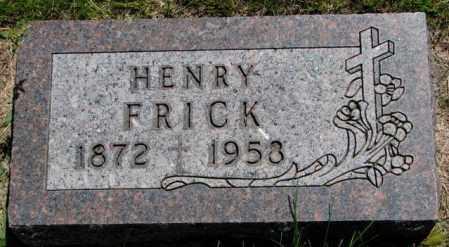 FRICK, HENRY - Yankton County, South Dakota | HENRY FRICK - South Dakota Gravestone Photos