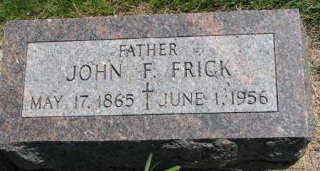 FRICK, JOHN F. - Yankton County, South Dakota | JOHN F. FRICK - South Dakota Gravestone Photos