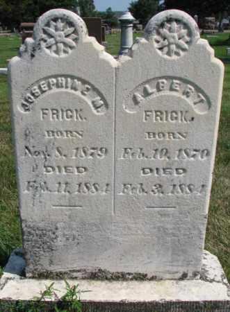 FRICK, ALBERT - Yankton County, South Dakota | ALBERT FRICK - South Dakota Gravestone Photos
