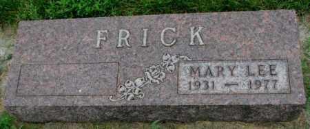 FRICK, MARY LEE - Yankton County, South Dakota | MARY LEE FRICK - South Dakota Gravestone Photos