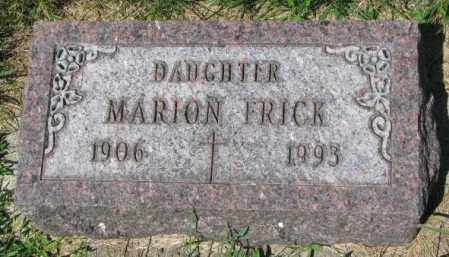 FRICK, MARION - Yankton County, South Dakota   MARION FRICK - South Dakota Gravestone Photos