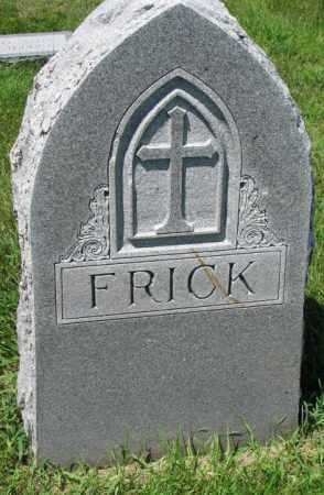 FRICK, PLOT - Yankton County, South Dakota   PLOT FRICK - South Dakota Gravestone Photos