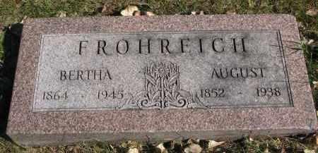 FROHREICH, BERTHA - Yankton County, South Dakota   BERTHA FROHREICH - South Dakota Gravestone Photos