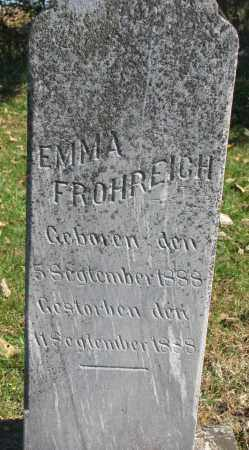 FROHREICH, EMMA - Yankton County, South Dakota | EMMA FROHREICH - South Dakota Gravestone Photos