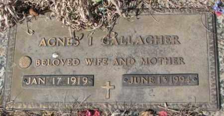 GALLAGHER, AGNES I. - Yankton County, South Dakota   AGNES I. GALLAGHER - South Dakota Gravestone Photos
