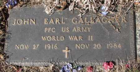 GALLAGHER, JOHN EARL - Yankton County, South Dakota   JOHN EARL GALLAGHER - South Dakota Gravestone Photos