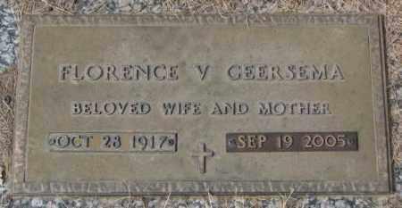 GEERSEMA, FLORENCE V. - Yankton County, South Dakota | FLORENCE V. GEERSEMA - South Dakota Gravestone Photos