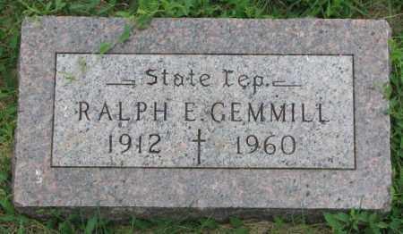 GEMMILL, RALPH E. - Yankton County, South Dakota   RALPH E. GEMMILL - South Dakota Gravestone Photos