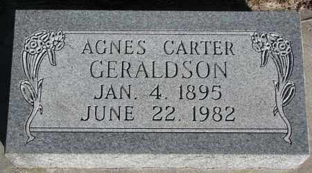 GERALDSON, AGNES - Yankton County, South Dakota   AGNES GERALDSON - South Dakota Gravestone Photos