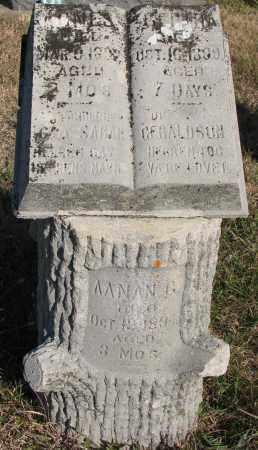 GERALDSON, AANAN G. - Yankton County, South Dakota | AANAN G. GERALDSON - South Dakota Gravestone Photos