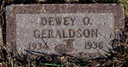 GERALDSON, DEWEY O. - Yankton County, South Dakota | DEWEY O. GERALDSON - South Dakota Gravestone Photos