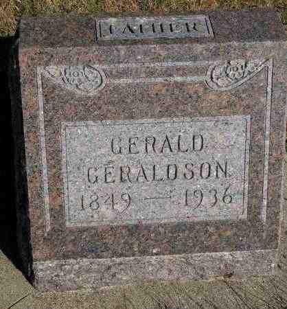 GERALDSON, GERALD - Yankton County, South Dakota | GERALD GERALDSON - South Dakota Gravestone Photos