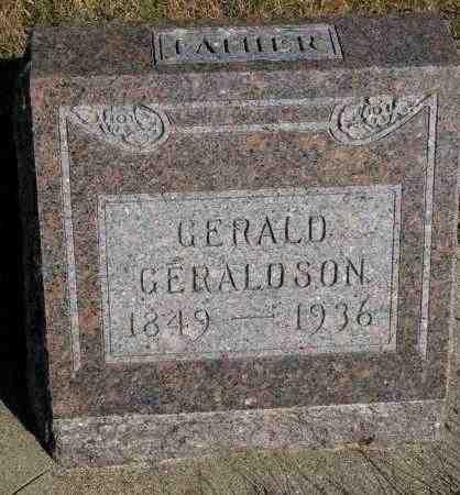 GERALDSON, GERALD - Yankton County, South Dakota   GERALD GERALDSON - South Dakota Gravestone Photos