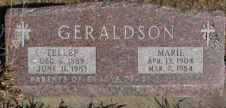 GERALDSON, TELLEF - Yankton County, South Dakota   TELLEF GERALDSON - South Dakota Gravestone Photos