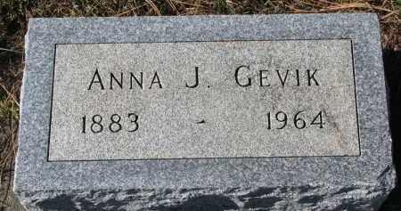 GEVIK, ANNA J. - Yankton County, South Dakota | ANNA J. GEVIK - South Dakota Gravestone Photos