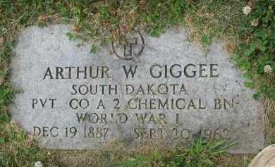 GIGGEE, ARTHUR W. (WW I) - Yankton County, South Dakota | ARTHUR W. (WW I) GIGGEE - South Dakota Gravestone Photos