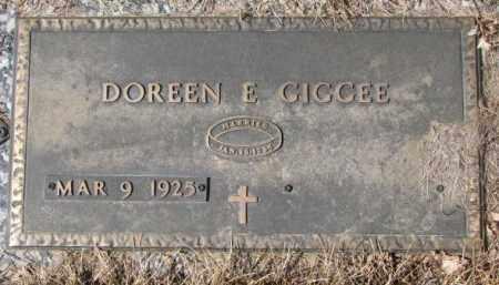 GIGGEE, DOREEN E. - Yankton County, South Dakota | DOREEN E. GIGGEE - South Dakota Gravestone Photos