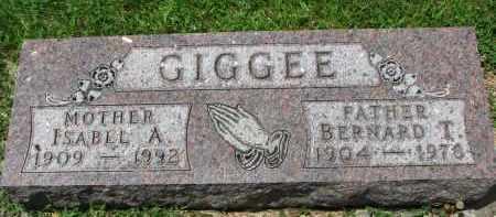 GIGGEE, ISABEL A. - Yankton County, South Dakota | ISABEL A. GIGGEE - South Dakota Gravestone Photos