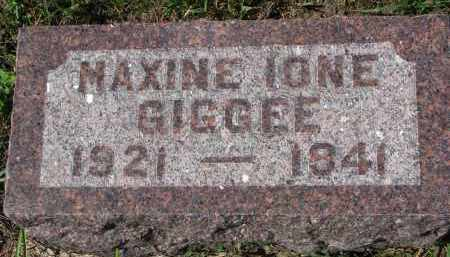 GIGGEE, MAXINE IONE - Yankton County, South Dakota | MAXINE IONE GIGGEE - South Dakota Gravestone Photos