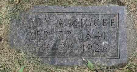 GIGGEE, MARY A. - Yankton County, South Dakota   MARY A. GIGGEE - South Dakota Gravestone Photos
