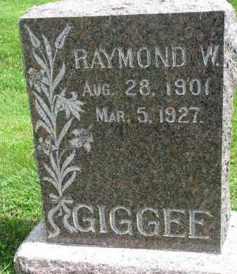 GIGGEE, RAYMOND W. - Yankton County, South Dakota   RAYMOND W. GIGGEE - South Dakota Gravestone Photos