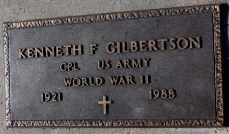 GILBERTSON, KENNETH F. (WW II) - Yankton County, South Dakota   KENNETH F. (WW II) GILBERTSON - South Dakota Gravestone Photos