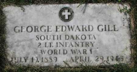 GILL, GEORGE EDWARD (WW I) - Yankton County, South Dakota   GEORGE EDWARD (WW I) GILL - South Dakota Gravestone Photos