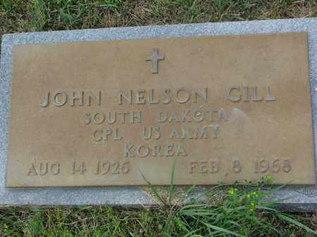 GILL, JOHN NELSON (MILITARY) - Yankton County, South Dakota | JOHN NELSON (MILITARY) GILL - South Dakota Gravestone Photos