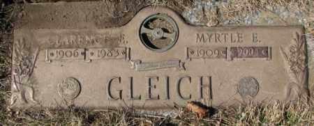 GLEICH, CLARENCE E. - Yankton County, South Dakota | CLARENCE E. GLEICH - South Dakota Gravestone Photos