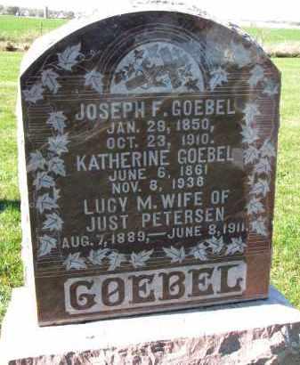 GOEBEL, JOSEPH F. - Yankton County, South Dakota | JOSEPH F. GOEBEL - South Dakota Gravestone Photos
