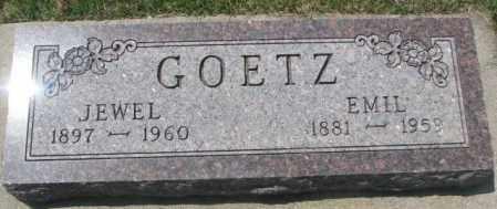 GOETZ, JEWEL - Yankton County, South Dakota | JEWEL GOETZ - South Dakota Gravestone Photos