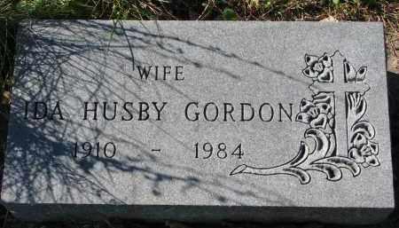 HUSBY GORDON, IDA - Yankton County, South Dakota | IDA HUSBY GORDON - South Dakota Gravestone Photos