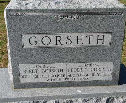 GORSETH, BERET - Yankton County, South Dakota | BERET GORSETH - South Dakota Gravestone Photos