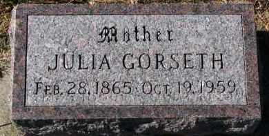 GORSETH, JULIA - Yankton County, South Dakota | JULIA GORSETH - South Dakota Gravestone Photos