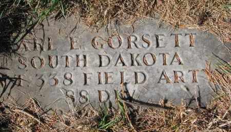 GORSETT, CARL E. (MILITARY) - Yankton County, South Dakota | CARL E. (MILITARY) GORSETT - South Dakota Gravestone Photos