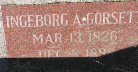 GORSETT, INGEBORG A. - Yankton County, South Dakota   INGEBORG A. GORSETT - South Dakota Gravestone Photos