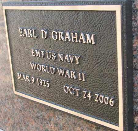 GRAHAM, EARL D. (WW II) - Yankton County, South Dakota | EARL D. (WW II) GRAHAM - South Dakota Gravestone Photos