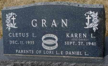 ERSTGAARD GRAN, KAREN L. - Yankton County, South Dakota   KAREN L. ERSTGAARD GRAN - South Dakota Gravestone Photos