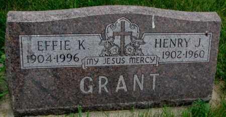 GRANT, EFFIE K. - Yankton County, South Dakota | EFFIE K. GRANT - South Dakota Gravestone Photos