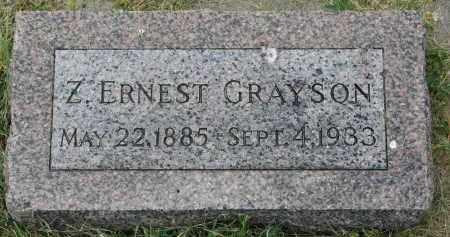 GRAYSON, Z. ERNEST - Yankton County, South Dakota | Z. ERNEST GRAYSON - South Dakota Gravestone Photos