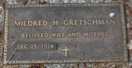 GRETSCHMAN, MILDRED H. - Yankton County, South Dakota   MILDRED H. GRETSCHMAN - South Dakota Gravestone Photos