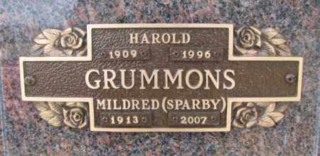 SPARBY GRUMMONS, MILDRED - Yankton County, South Dakota | MILDRED SPARBY GRUMMONS - South Dakota Gravestone Photos