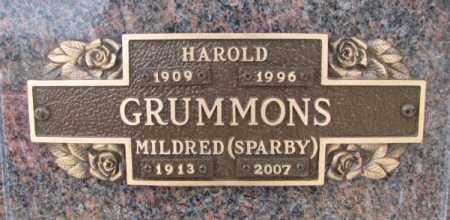 GRUMMONS, HAROLD - Yankton County, South Dakota | HAROLD GRUMMONS - South Dakota Gravestone Photos