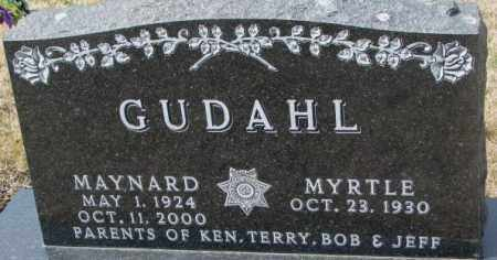 GUDAHL, MAYNARD - Yankton County, South Dakota | MAYNARD GUDAHL - South Dakota Gravestone Photos